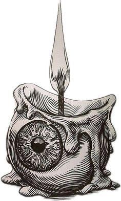 Sticker by - stickereyeball candle creepy - Trippy Drawings, Dark Art Drawings, Art Drawings Sketches, Creepy Sketches, Weird Drawings, Tattoo Sketches, Tattoo Drawings, Arte Horror, Horror Art