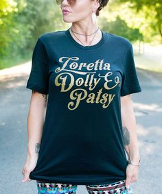 Look what I found on #zulily! Ruby's Rubbish Black 'Loretta Dolly & Patsy' Tee by Ruby's Rubbish #zulilyfinds