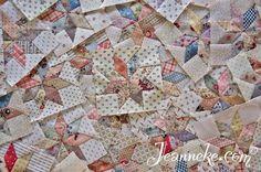 Tiny LeMoyne Star blocks for my Victoria Quilt