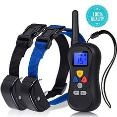 Petraha® Professional 330 Yards Remote Dog Training Collar. Petsafe Dog Shock Collar for up to 2 Dogs From 25 to 100 Lbs. E-collar with Safe Beep, Vibration, Visible Control Buttons