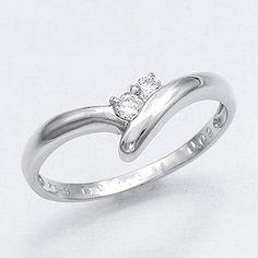 指輪 K18ホワイトゴールドダイヤリング【鑑別書付き】