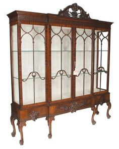 Century Chippendale Mahogany Display Cabinet, circa Would LOVE to have this to fill with antique china. by ana Furniture Styles, Unique Furniture, Furniture Design, Georgian Furniture, Beautiful Dining Rooms, Iron Decor, Dining Room Inspiration, Living Furniture, Upcycled Furniture