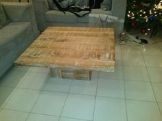 Rustic coffee table by Beaver Home furniture.