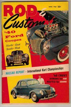 VINTAGE OCTOBER 1960 HOT ROD MAGAZINE STREET RODS VALIANT JET CAR SPEED RECORDS