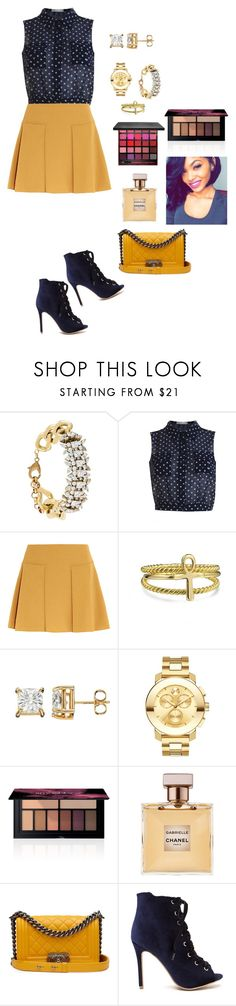 """""""Mustard✨"""" by lalalace-1 ❤ liked on Polyvore featuring Iosselliani, See by Chloé, Bling Jewelry, Movado, Smashbox and Chanel"""