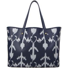 Ikat Coated Canvas Tote (€62) found on Polyvore