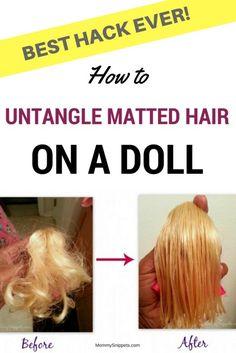 How To Untangle Doll Hair Pinterest Doll Hair Dolls