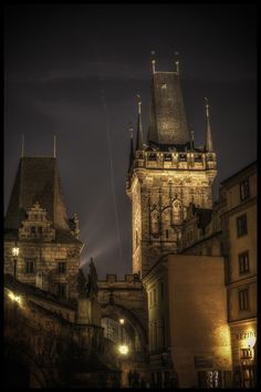 Prague night by Václav Verner on Czech Republic, Fujifilm, Budapest, Big Ben, Places To Go, Louvre, Night, City, Travel