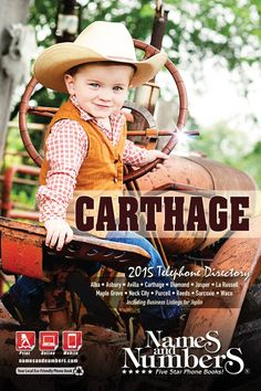 CARTHAGE (Missouri) 2015 Yellow Pages and White Pages | Visit www.namesandnumbers.com/missouri/carthage/yellow-pages to search for local business and residential information in Carthage, MO and the surrounding area!