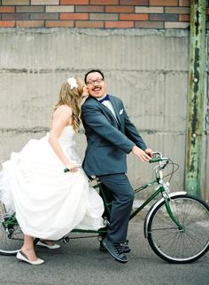 Tandem bicycle for two getaway..
