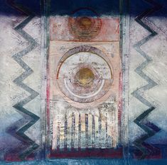 The Beauty of Imperfection.  Judy Merchant 64 x 70 cms Fabric, paint, gesso and machine stitch