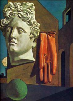 Giorgio de Chirico (1888 - 1978) |  Metaphysical Art | The Song of Love - 1914