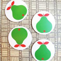 Lotta Kuhlhorn Pear Coasters