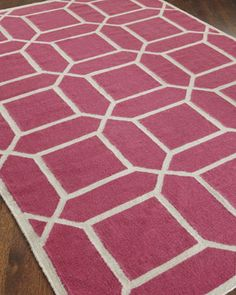 """""""Octagonal Maze"""" Rug at Horchow."""