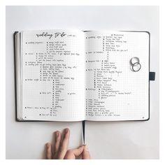 Bullet journal wedding task list. | @the.bullet.journey