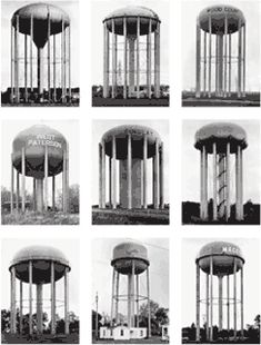 Bernd and Hilla Becher Water Towers USA, 1988 black-and-white photographs each 40 x 30 cm Tate.org.uk