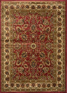 Home Dynamix Royalty Red 92Inchby124Inch Traditional Area Rug >>> Want additional info? Click on the image.