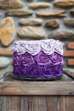 purple ombre cake Inspiration for Eva's smash cake Pretty Cakes, Beautiful Cakes, Amazing Cakes, Cake Cookies, Cupcake Cakes, Mini Cakes, Purple Cakes, Purple Wedding Cakes, Wedding Cupcakes