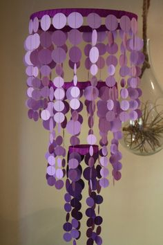 Ooo - purple chandelier made out of card stock - I could do this!