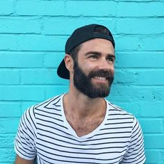 Beard with great smile & cap