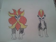 Primal and Prima, my male and female Pyroars.