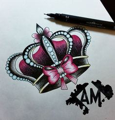 ¿Quién se siente una princesa? Si lo quieres para tattoo, mándame un privado! • Mi propio hashtag: #ArtOfTheDraw • #LovePink #Corona #Crown #Princess #CrownTattoo #Design #TattooDesign #TattooSociety #InkMachines #InkMaster #InkFreakz #InstaLike #InkJunkeyz #TheBestSpainTattooArtists #TattooWorkers #TattooOfTheDay #Tattoos_Of_Instagram #Inkstagram #Inked #Tattooed #BlxcKink #TattooFlash #Superb_Tattoos #TattooShop #Tatuaje #Art #InkAddicts