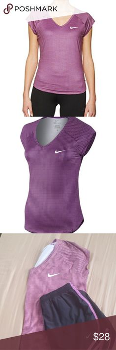 Nike Women's Printed Pure Top Cosmic Purple Nike Women's Printed Pure Top Cosmic Purple in the size Large (Dri-fit) no noticeable stains or holes, shirt is in great condition. Nike Tops Tees - Short Sleeve