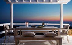 Lights Of Mykonos - Mykonos, Vile, Grecia Mykonos Island Greece, Mykonos Villas, Luxury Villa Rentals, Beautiful Villas, Sitting Area, Stunning View, Real Estate, Lights, Interior Design