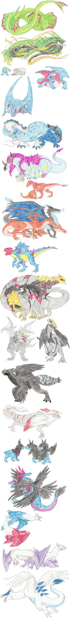 Dragon Pokemon by DragonlordRynn