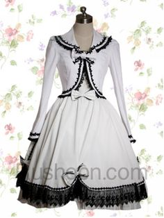 White Cotton Sweet Lolita Dress