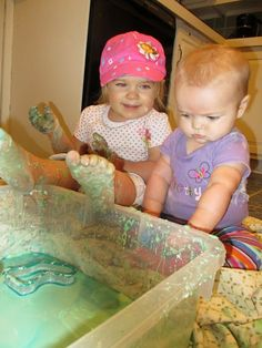 Train Up a Child: 5 Messy Sensory Bins for Babies and Toddlers