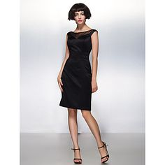 TS+Couture®+Cocktail+Party+Dress+Sheath+/+Column+Scoop+Knee-length+Satin++–+USD+$+49.99
