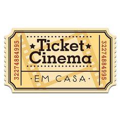 Placa de Parede Ticket Cinema