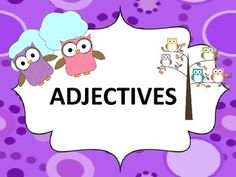 Adjectives: task cards, worksheets , posters #adjectives