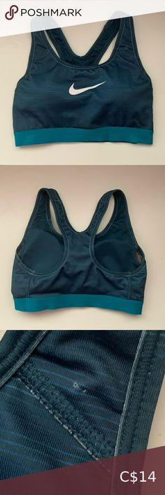 Nike Sports Bra Medium Support Removable padding Good condition Tiny hole from where the tag came out Nike Intimates & Sleepwear Sports Bras Black And White Nikes, Under Armour Sport, Racerback Sports Bra, Blue Nike, Ripped Skinny Jeans, Sports Bra Sizing, 50 Fashion, Tight Leggings, Nike Dri Fit