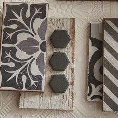 EliteTile New York x Hex Porcelain Unglazed Mosaic Tile in Antique Black Paint Colors For Home, House Colors, Interior Design Boards, Bath Remodel, Farmhouse Design, Tile Patterns, Tile Design, Tiles, Hex Tile