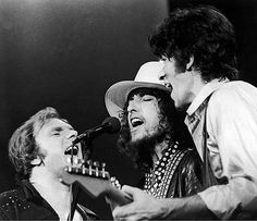 Van Morrison, Bob Dylan, and Robbie Robertson during the Last Waltz. Van Morrison, Bob Dylan, and Robbie Robertson during the Last Waltz. Van Morrison, Bob Dylan, Music Love, Good Music, My Music, Music Stuff, Music Icon, Music Songs, Music Videos