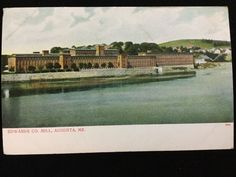 Early 1900s Edwards Company Mill, Augusta, ME postcard