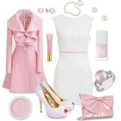 From Stylish Eve. Pretty in Pink Pink Fashion, Fashion Beauty, Fashion Outfits, Womens Fashion, White Outfits, Girly Outfits, Casual Outfits, Look Rose, Look 2015