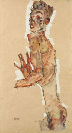 "lu-art: "" Self-Portrait with Splayed Fingers, 1911,  Egon Schiele """