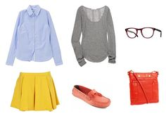 Brands: blouse:Te Chihi  shirt:Topshop  eyeglasses:Oliver Peoples  bag:Marc by Marc Jacobs  shoes:Moshulu