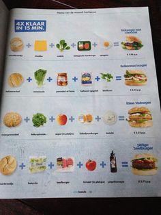 Verschillende (gezonde) vegetarische burgers!!