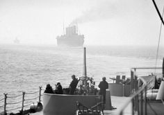 USS Texas on Convoy Duty in the North Atlantic.