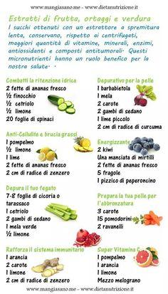 Estratti di frutta e verdura