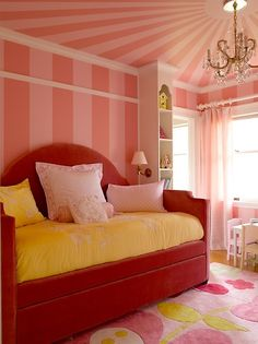 Such a fun space for a little girl!