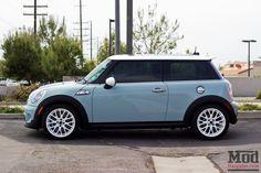 Ice blue Mini Cooper S