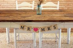rustic valentine mr and mrs  heart burlap wedding banner country barn photo prop swag signage by montanasnow