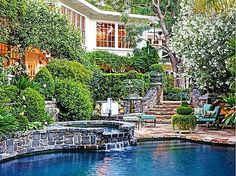The perfect backdrop to a country escape. #backyard #pools #spa