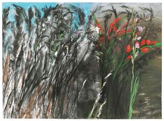 Jim Dine Gladiolas Go Downtown, 2004 charcoal, pastel, acrylic and spray paint on paper Jim Dine, Abstract Nature, Janis Joplin, Ap Art, Illustrations, Nature Paintings, Natural Forms, Botanical Art, House Painting