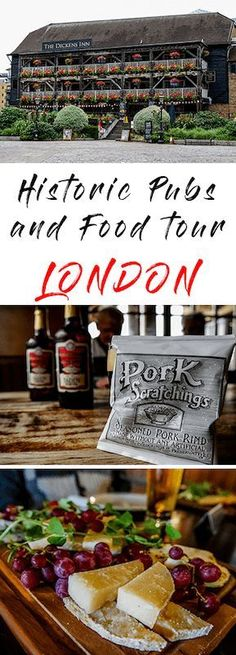 Join the historic pub and food tours in London. Eat and drink your way around five great pubs and hear the stories of their speckled past. Eat and drink your way around five great pubs and hear the stories of their speckled past. Best pub and food tours London Tours, London Travel, Essen In London, Best Pubs, London Food, London Eats, Food Tasting, Foodie Travel, Street Food